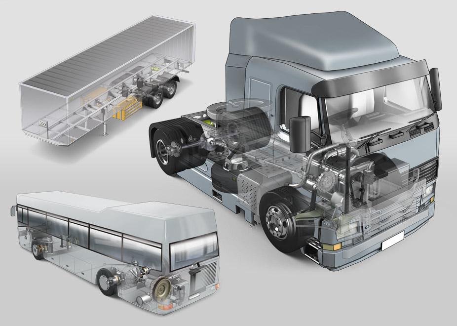 Фото схемы грузового автомобиля
